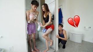 I CAUGHT MY GIRLFRIEND TAKING A SHOWER WITH MY TWIN BROTHER!
