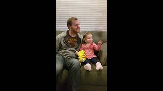 Cute 2 Year-Old Girl Watches Everyone Is Here Trailer