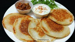 सुबह का नाश्ता हो या फिर बच्चो का टिफिन सिर्फ 10 मिनट मे बनाये कम आॅयल मे ब्रेड आलू पराठा | Paratha.