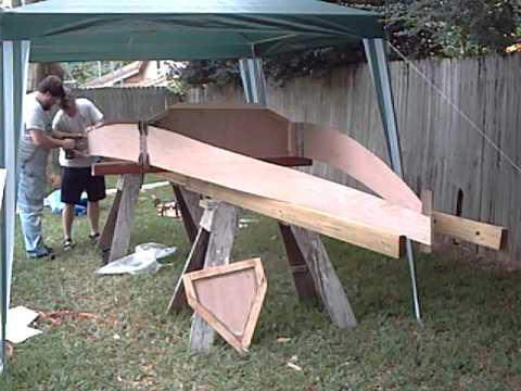 going 3D turning a pile of flat plywood into a Jim Michalak Wooboto sailboat a DIY project