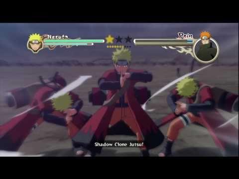 Naruto Ultimate Ninja Storm 2 Sage Naruto 6 Tails vs Pain Pt 1 2 HD