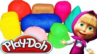 Маша и Медведь PlayDoh сюрприз яйца Masha i Medved PlayDoh Plastic and chocolate Surprise eggs