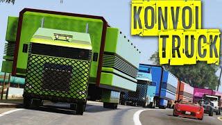 GTA 5 Konvoi Truck UGAL-UGALAN ditengah Jalan Gilak Jalan Penuh!!
