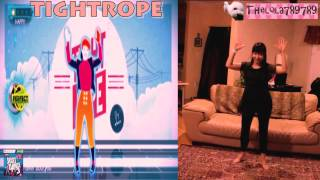 Just dance 3 Kinect - Tightrope 5 stars (top & bottom)