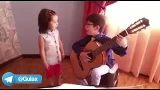 اجرای آهنگ نازنین مریم توسط خواهر و برادر شیطون