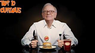 Warren Buffett's  - Top 10 Most Favorite Foods That Keep Him Young   Top 10 Curious