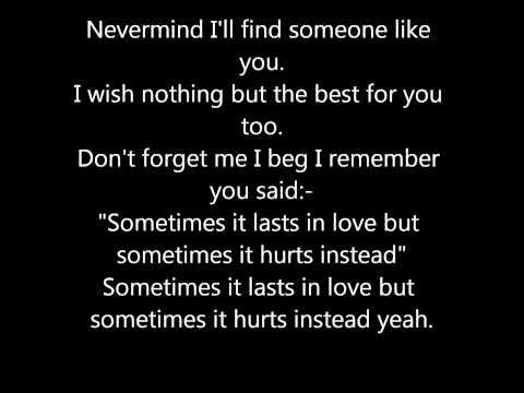 Adele - Someone Like You! Lyrics.