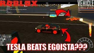 TESLA is FASTER than an EGOISTA???   Vehicle Simulator Tesla Update