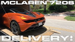 McLaren 720S delivery, first drive and photo/drone gallery. Guess how fast this monster is?