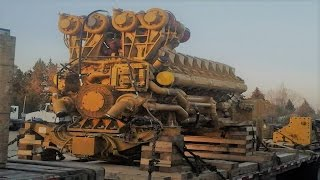 Big Engines Start Up and Sound