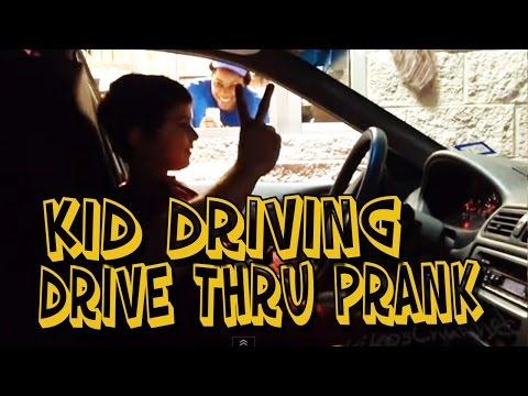 DRIVE THRU KID DRIVER PRANK MUST WATCH