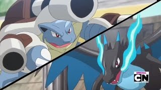 Pokemon XY Special - Mega Blastoise vs. Mega Charizard X - Full Fight HD