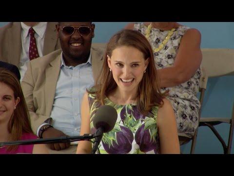 Natalie Portman Harvard Commencement Speech   Harvard Commencement 2015