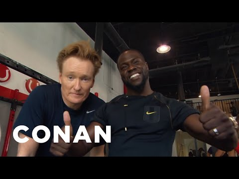 Conan Hits The Gym With Kevin Hart  - CONAN on TBS