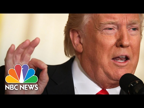 President Donald Trump s Addresses Mike Flynn Russia Fake News Full Press Conference NBC News
