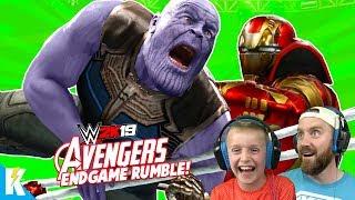 Avengers: ENDGAME in WWE 2k19 (Royal Rumble Match) KidCity Gaming