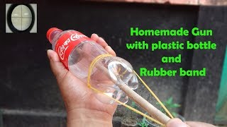 Life Hacks Idea || Simple Mack Homemade Gun with plastic bottle and Rubber band