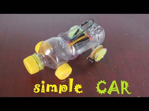 How to make a Car using Plastic bottle  - Toy car