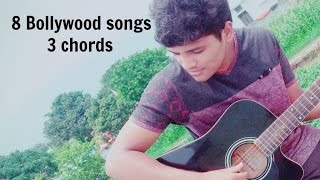 Learn to play 8 Bollywood songs using only 3 chords | Guitar Lesson | Atif Aslam | Jal | Bollywood