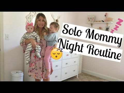 NIGHT TIME ROUTINE OF A MOM 2017 | BEDTIME ROUTINE WITHOUT DAD | Infant and toddler | Tara Henderson
