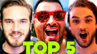 Top 5 YouTubers You Didn't Know Played Minecraft (Ali-A, PewdiePie, iHascupquake, HikePlays)