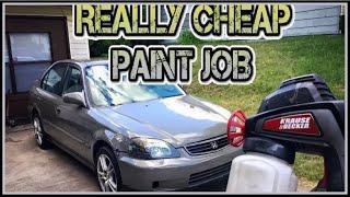 Cheap electric spray gun paint job. (decent results)