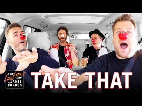 Comic Relief Take That Carpool Karaoke UK Red Nose Day Special Edition
