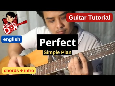 Guitar Tutorial Perfect Simple Plan Intro Lesson And Chords