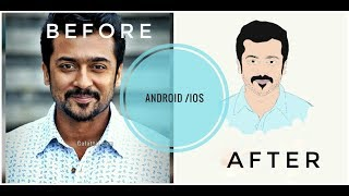 Face drawing using illustrator (Android+ios)Malayalam tutorial