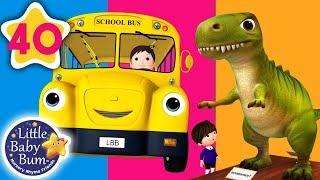 Dinosaur on The Bus | Wheels on The Bus +More Nursery Rhymes & Kids Songs | Little Baby Bum
