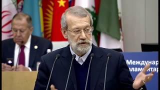 Iran Larijani Parliamentarians Against Drugs, Russia State Duma لاریجانی کنفرانس مبارزه با مواد