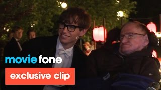 'The Theory of Everything' | Stephen Hawking Visits the Set