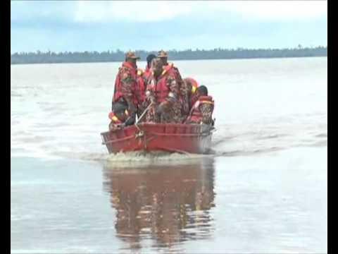 Mayat pertama nahas helikopter ditemui di tebing Sungai Batang Lupar