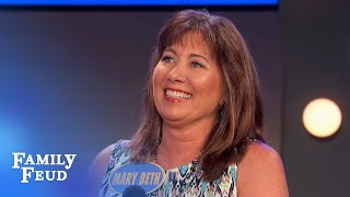 Mary Beth gets GIGGLY   Family Feud