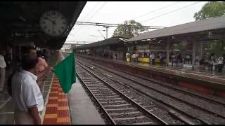 India's fastest train -  Talgo - passing near mumbai