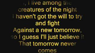 Infernal Self Control Lyrics