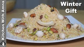 Homemade Panjiri Recipe (Make and Eat for Whole Winter) by Kitchen With Amna