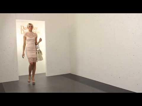 Lili London Nude Oriental Lace Yvette Midi Dress