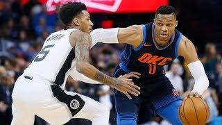 Russell Westbrook Triple Double vs Spurs! Kyle Anderson Injury, 2017-18 Season