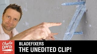 Bladefixer Plasterboard Fixing - the Unedited Clip for the Sceptics