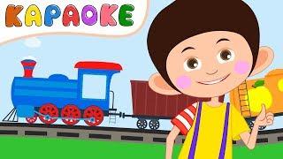 КАРАОКЕ - Паровозик КУКУТИКИ и Синий Трактор - Детская песенка про паровозы и поезда - KIDS KARAOKE