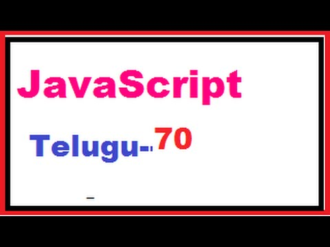 How to change bg color for page using JavaScript--Telugu 70