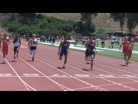 2016 TF - OC Champships - 100 Meters - FrSoph Boys (6 Heats)