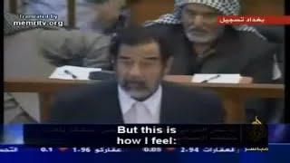Saddam Husseins final speech