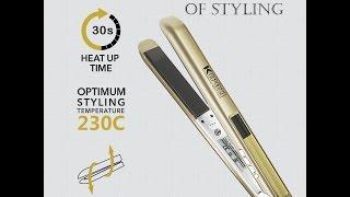 KIPOZI Pro Hair Straighteners Digital LCD Titanium Flat Iron Anti Frizz