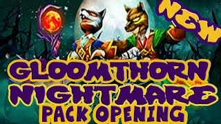 Wizard101 Gloomthorn Pack Opening! 2 NEW PETS! Dutiful Blood Bat Pet,