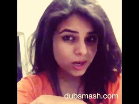 Dubsmash India: Girl saying Aitraaz dialogue