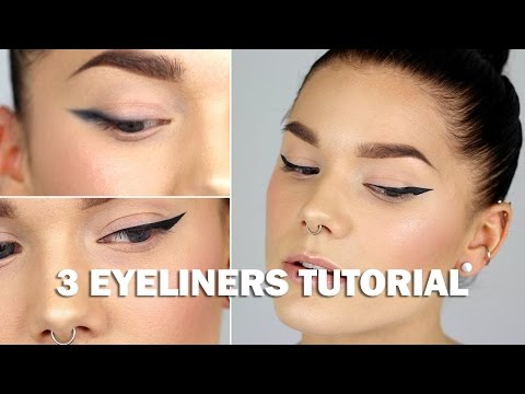 3 eyeliners tutorial (with subs) - Linda Hallberg Makeup Tutorials