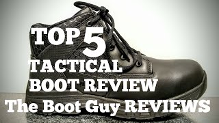 """TOP FIVE 6"""" TACTICAL BOOT REVIEW [ The Boot Guy Review ] DANNER - BATES- UNDER ARMOR - MAGNUM"""