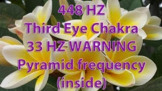 448 HZ Third Eye Chakra, 33 HZ WARNING HIGH Beta, Pyramid frequency (inside)